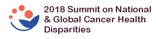 Logo 2018 Summit on National and Global Cancer Health Disparities